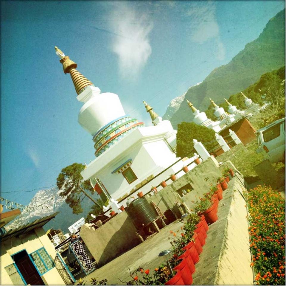 sherabling stupas